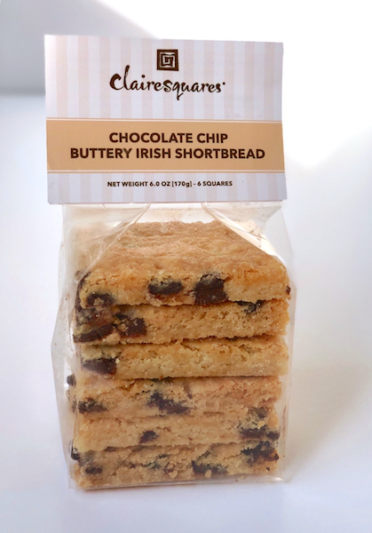 Chocolate Chip Buttery Irish Shortbread Squares