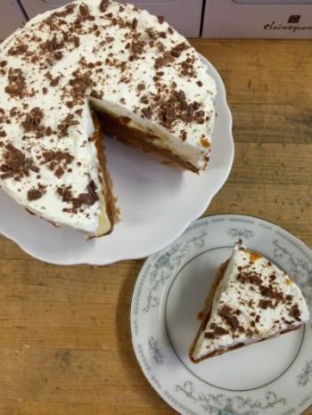 Banoffee pie slice